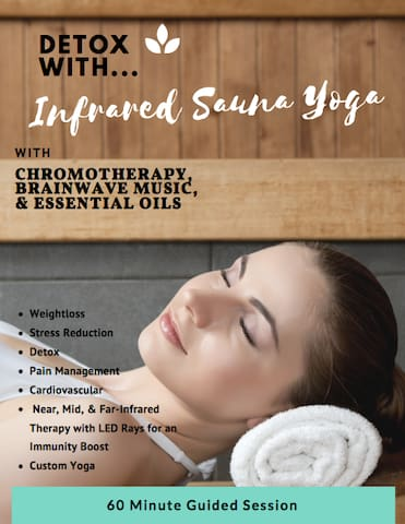 Detox your systems, sweat your prayers, and balance your mind with infrared sauna therapy, chromotherapy, and brainwave music.