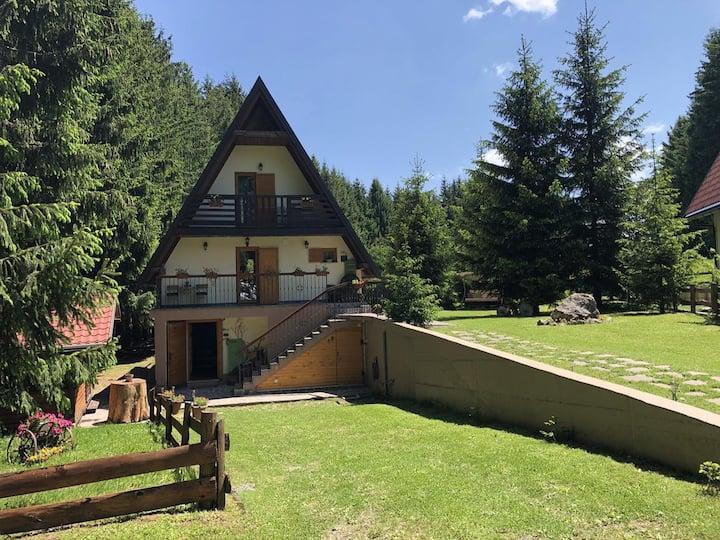 Two bedroom house with terrace Sunger, Gorski kotar (K-17578)