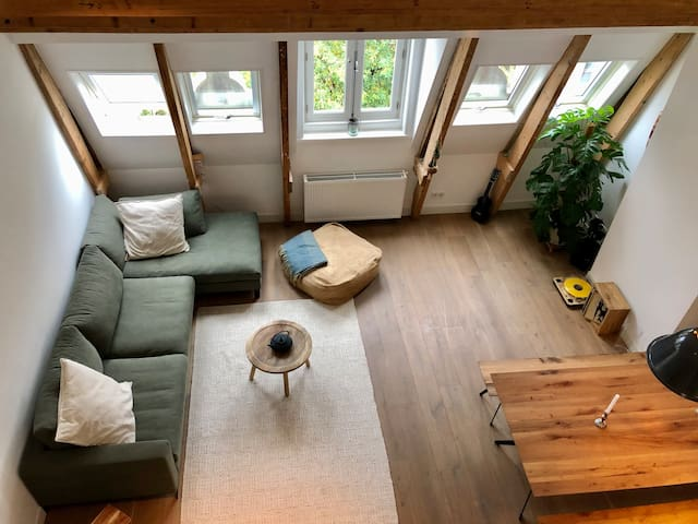Renovated traditional attic apartment