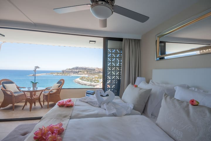 A beautiful view for each morning as you wake up in this gorgeous apartment