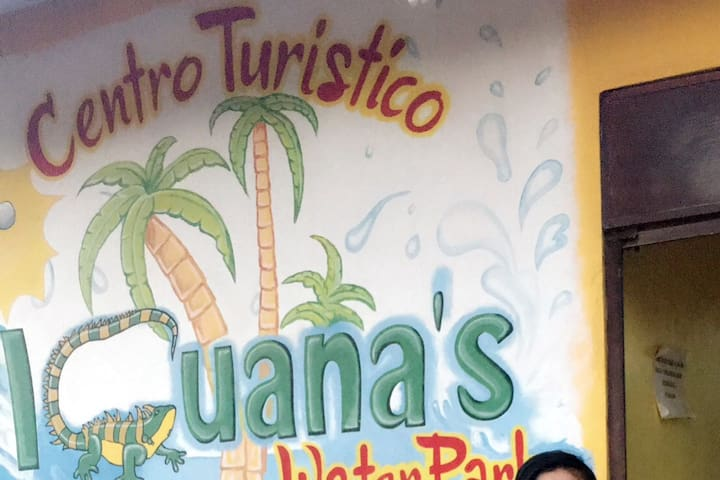 Iguanas tourist water park is five minutes away