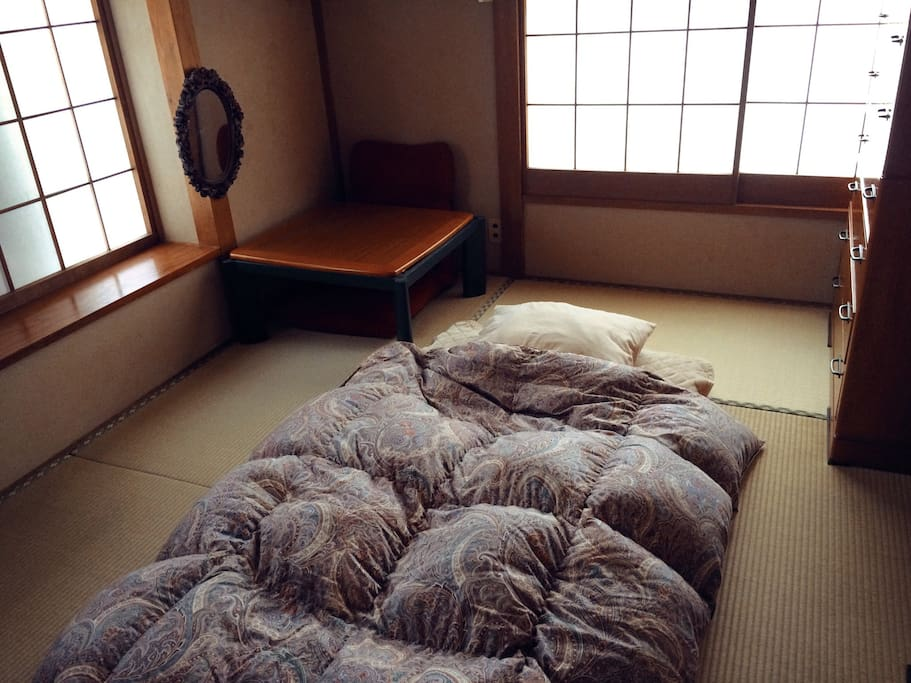 Japanese mattless(futon). Up to 3 sets are available.