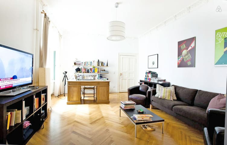 Central Flat, 2 Bedrooms+2 Bathrooms, Full Kitchen