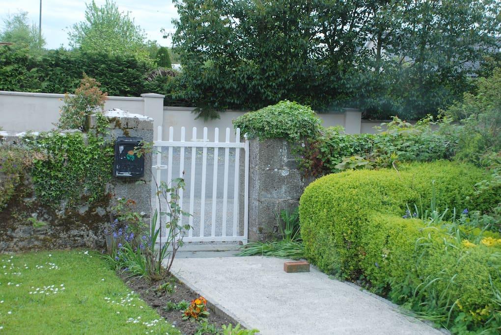 Front garden gate.