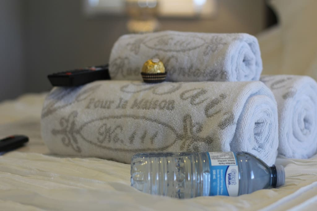 Fresh Towels to use during your stay