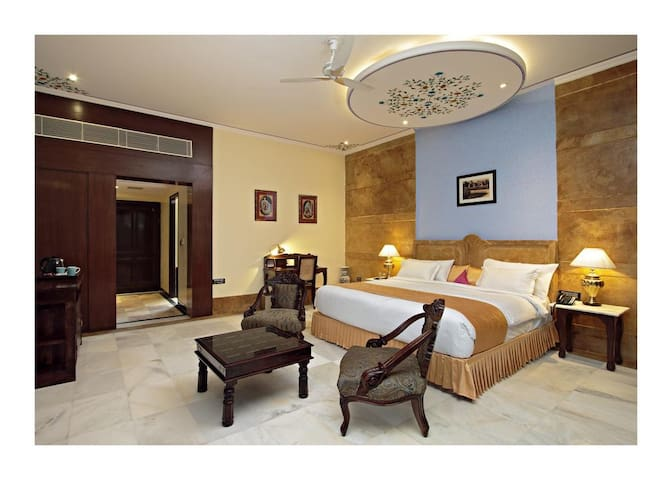 Super deluxe room in heritage boutique property