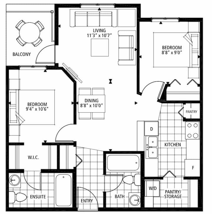 Brand new 2BR&2WR Apartment w/Parking_close to YYC