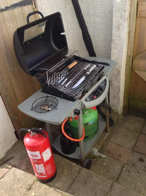 Gas barbecue stands with full gas cylinder to hire for £20 per session