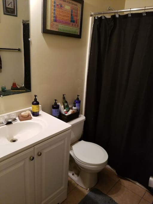 Bathroom- small but equipped with essentials