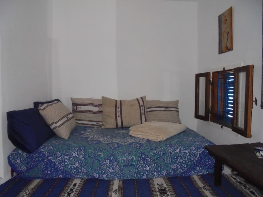 Double bed space relax with sea views
