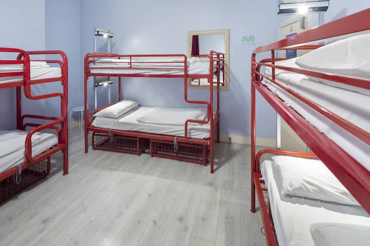 Bed in 15-Bed Mixed Dorm with Shared Bathroom