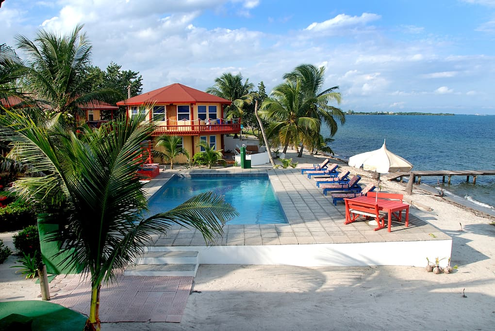 Property just steps away from large pool and the warm Caribbean waters