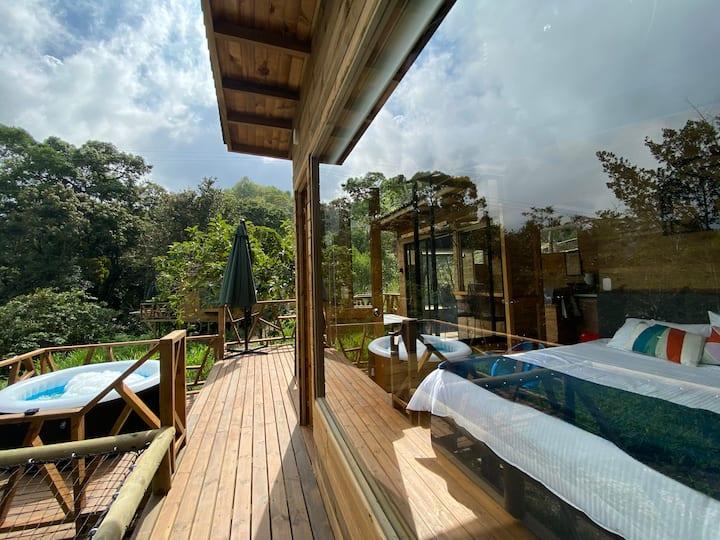 Cabaña cerca de Bogotá rodeada de Naturaleza-aves