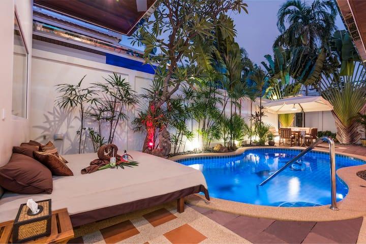 *****Luxus 2SZ Pool Villa Pratamnak 50m zum Strand