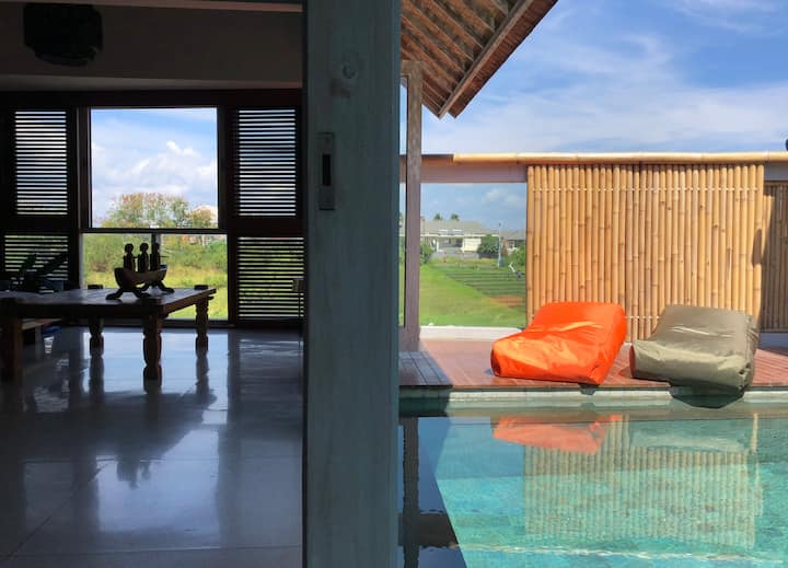 Spacious 1BR Private Pool in Canggu/Echo
