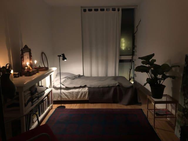 Cosy studio apartment in Copenhagen.