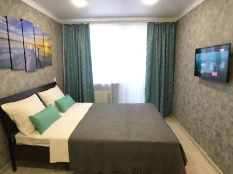 Яркая, уютная и современная квартира-студия