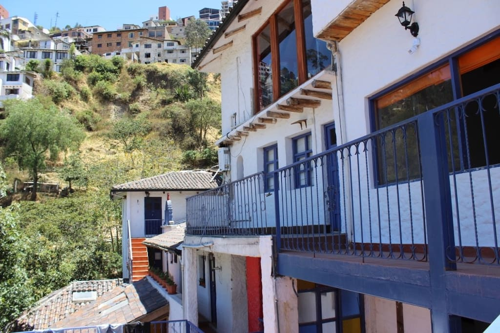 balconies with mountain views outside rooms
