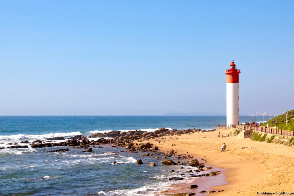 Umhlanga beach - Lighthouse. from the house to umhlanga village there beach around 600m