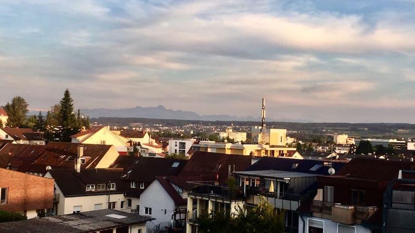 Säntis-Blick im 1-Zimmer Appartement mit Balkon