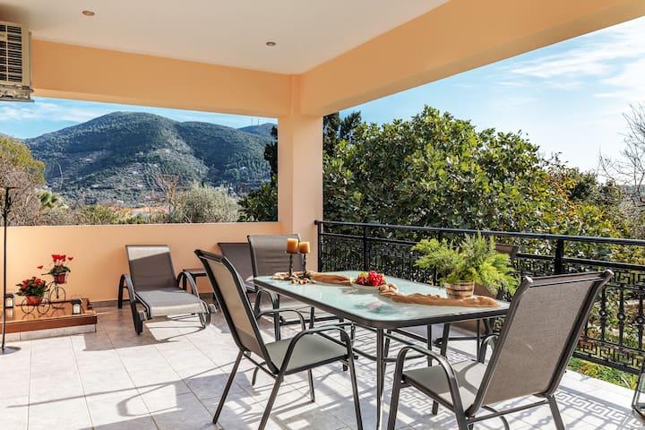Meandros apartment garden view