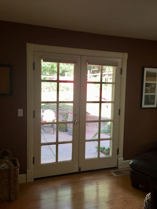 French Doors Entrance