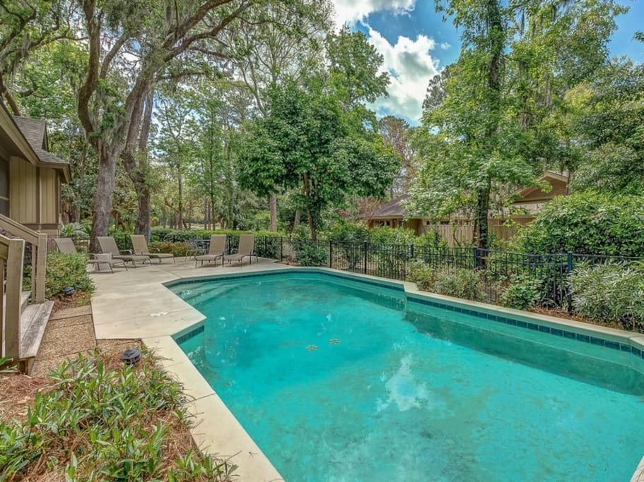 Fenced in Pool Area at 6 Jessamine Place