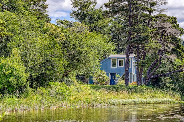 NEW LISTING! Dog-friendly home near downtown Port Orford w/peaceful pond setting