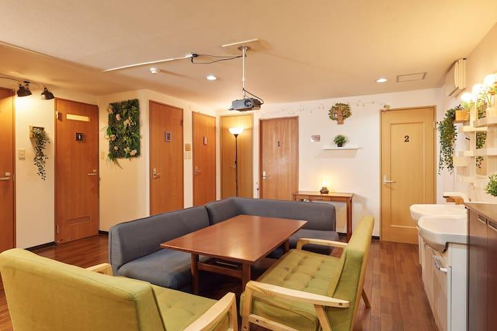 Guest House Sumicco 『① 男女共用』 道頓堀・黒門市場まで7分の好立地