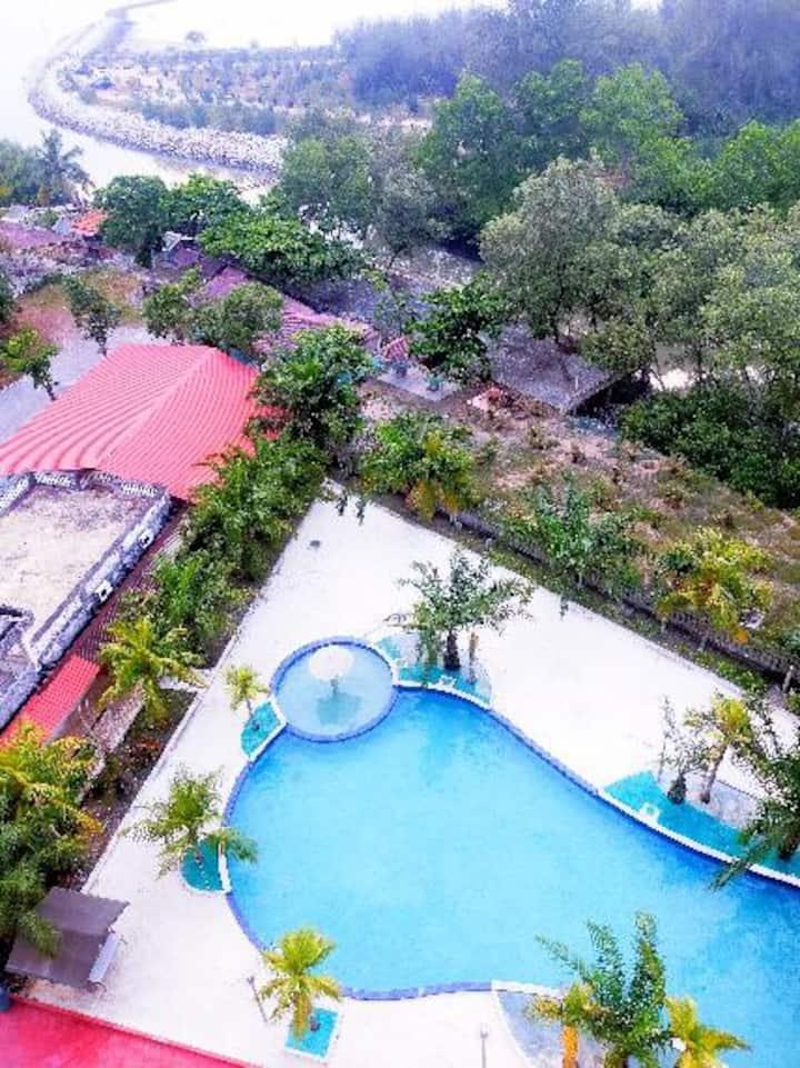 pantai view resort,jeram