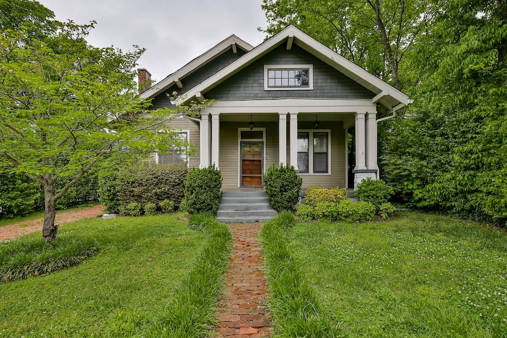 Our charming home is located in historic and hip East Nashville.