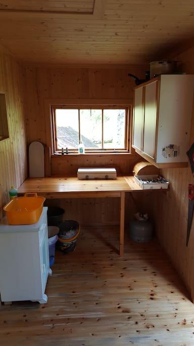 Kjøkkenkrok med gassbluss