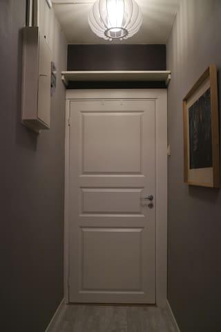 The door  to the second bedroom