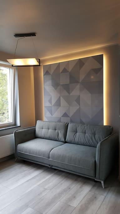 rozkładana wygodna sofa
