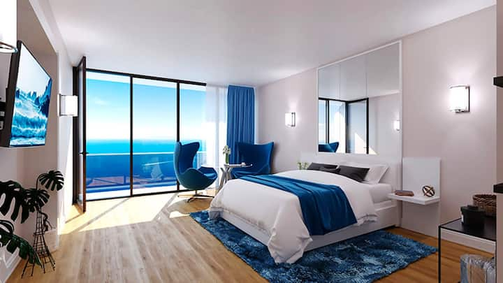 Luxurious Spacious 5* Hotel Studio with Sea view