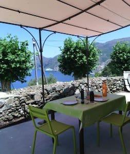 Nice villa with sea and garden view in Cap Corse