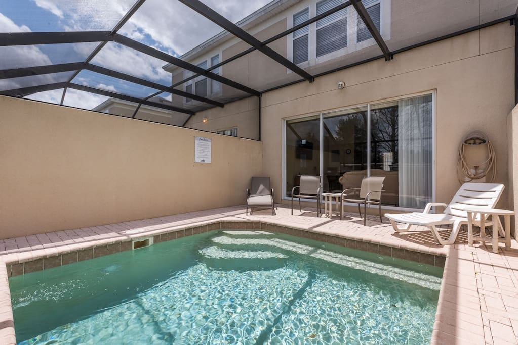 Come home after a day at the parks and enjoy your own private pool