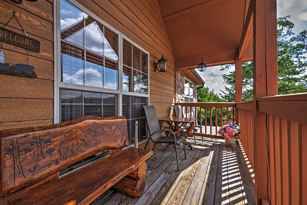 Sit back and enjoy spectacular views of the Ozark Hills right from the front porch!