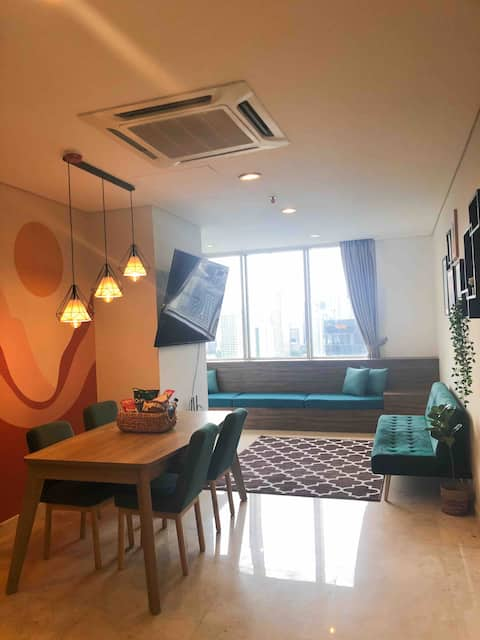 "Cozy Condominium Epicentrum (70""smartTV&city view)"