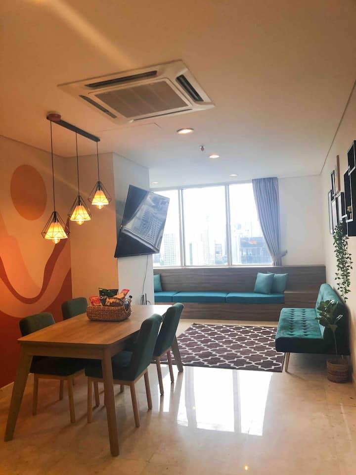 """Cozy Condominium Epicentrum (70""""smartTV&city view)"""