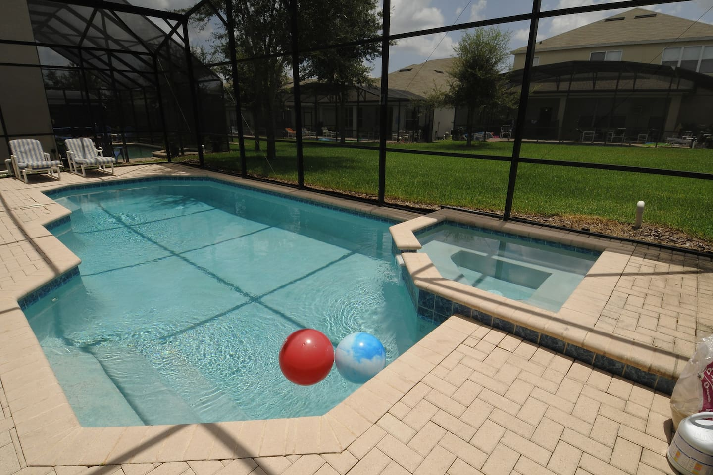 Private South Facing Pool with Spa
