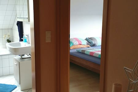 Nice Room with privat bathroom, toilet, TV, Wi-Fi - Sulzbach am Main - Oda + Kahvaltı
