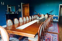 The main dining room seats 24, perfect room to host the the perfect parties