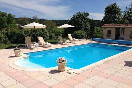 2 bed gite with heated pool - Grand-Brassac - Casa