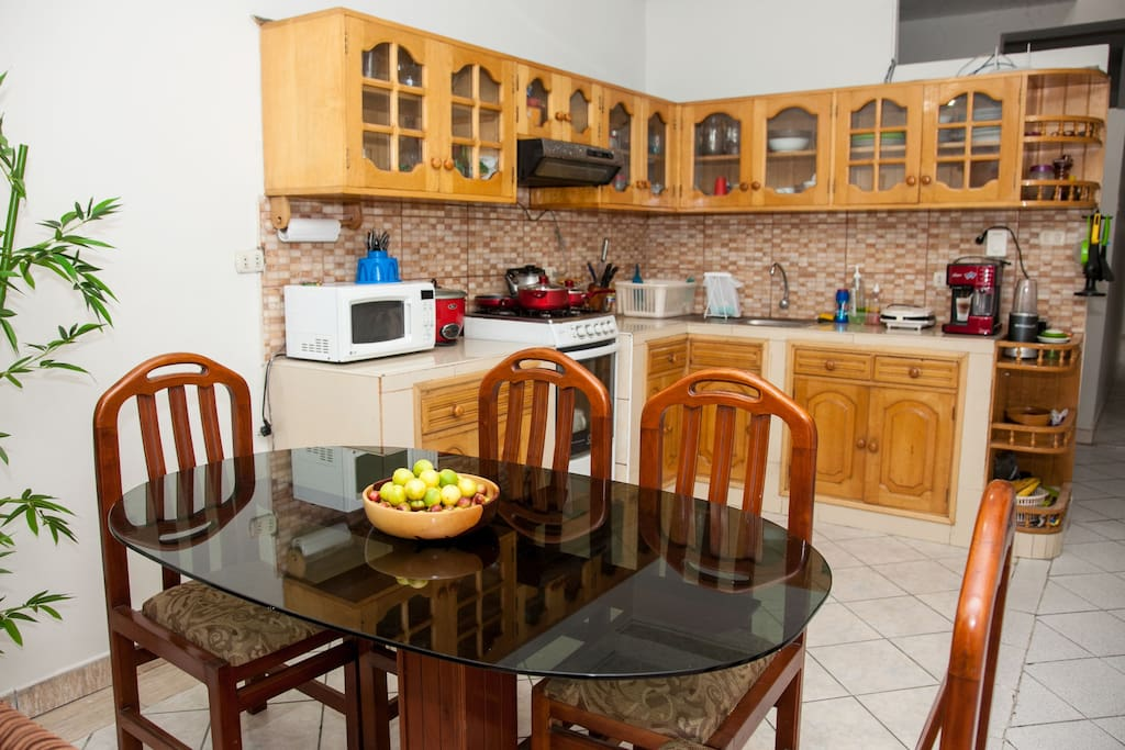 Open concept kitchen, fully equipped (except for dishwasher)