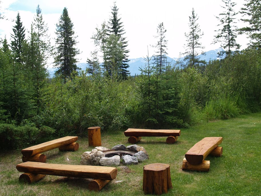 Your fire pit area.