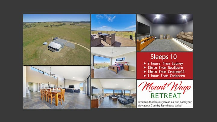 MOUNT WAYO RETREAT-Goulburn (Sleeps 10)