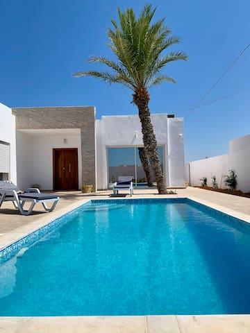 Villa Moderne Piscine sans vis à vis Djerba
