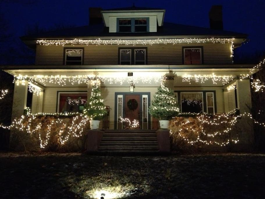 The Inn is recognized by many in the area as one of the most beautifully decorated homes for the holidays.