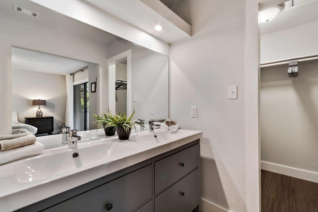 Bathroom #1 located in master bedroom